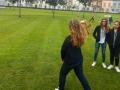 Dopo il laboratorio ieri siamo andati a lanciare dei veri boomerang. Non é mica facile!