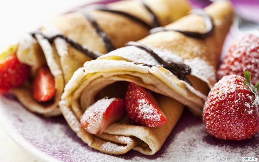 Ricetta crepes scritta in inglese
